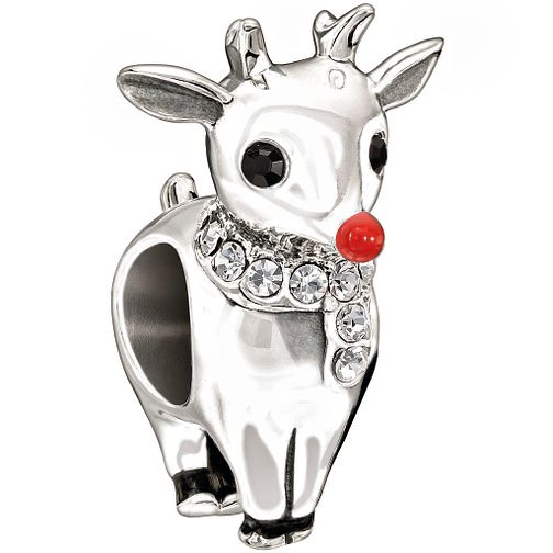 Chamilia Sterling Silver Stone Set Rudolph Bead - Product number 3757005
