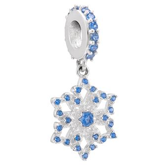 Chamilia Sterling Silver Stone Set Frozen Snowflake Charm - Product number 3757420