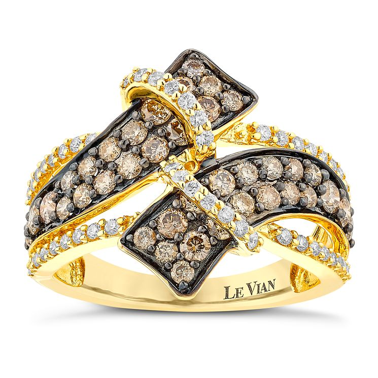Le Vian 14ct Honey Gold and Chocolate Diamond gladiator ring - Product number 3757749