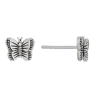 Sterling Silver Butterfly Stud Earrings - Product number 3759601