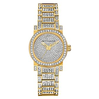 Wittnauer Adele ladies' gold-plated stone set watch - Product number 3760340