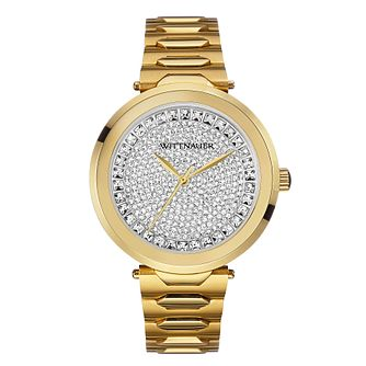 Wittnauer Taylor ladies' gold-plated stone set watch - Product number 3760375