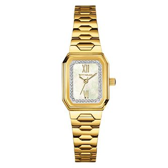 Wittnauer Madelyn ladies' gold-plated stone set watch - Product number 3760464