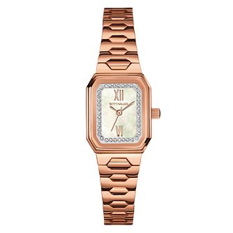 Wittnauer Madelyn ladies' rose gold-plated stone set watch - Product number 3760472