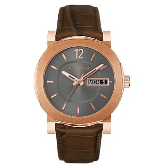 Wittnauer Aiden men's rose gold-plated strap watch - Product number 3760499