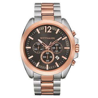 Wittnauer Lucas men's two colour bracelet watch - Product number 3760588
