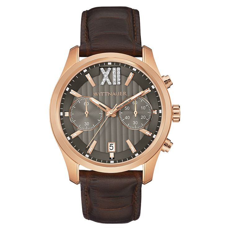 Wittnauer Michael men's rose gold-plated strap watch - Product number 3760634