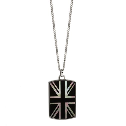 Simon Carter men's onyx mother of pearl Union Jack necklace - Product number 3761649