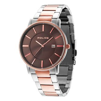 Police Men's Two Colour Stainless Steel Bracelet Watch - Product number 3763021