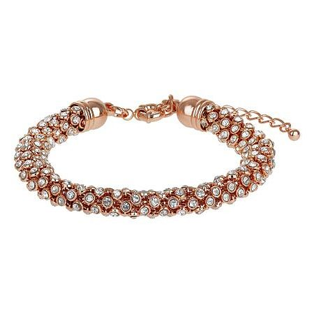 Mikey Rose Gold Tone Scatter Crystal Bracelet - Product number 3769135