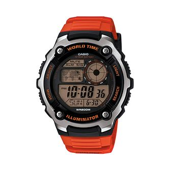 Casio Men's Black Dial Orange Resin Strap Watch - Product number 3770087