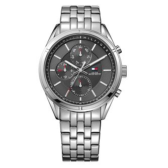 Tommy Hilfiger Men's Black Dial Stainless Steel Watch - Product number 3773663