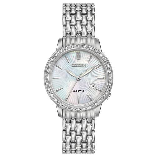 Citizen Eco-Drive Ladies' Stainless Steel Bracelet Watch - Product number 3777537