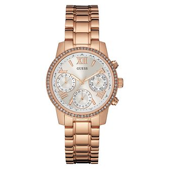 Guess Ladies' Rose Gold Plated Bracelet Watch - Product number 3778495