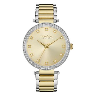 Caravelle New York Ladies' Two Colour Steel Bracelet Watch - Product number 3779912