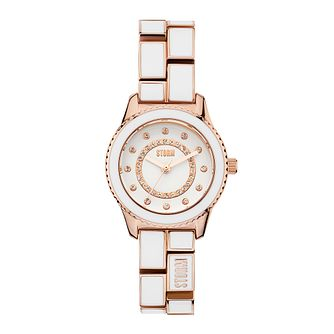 STORM Mini Zarina Ladies' White Enamel Bracelet Watch - Product number 3780287