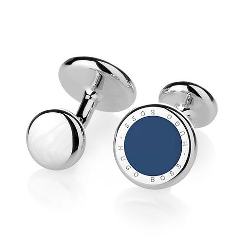 Hugo Boss Men's Stainless Steel Blue Accent Cufflinks - Product number 3785920