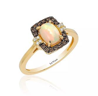 14ct Honey Gold™ Neopolitan Opal™ & Diamond Ring - Product number 3792498