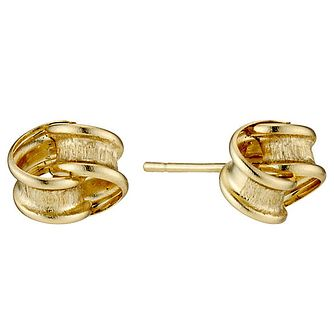 9ct Yellow Gold Loop Knot Stud Earrings - Product number 3799441