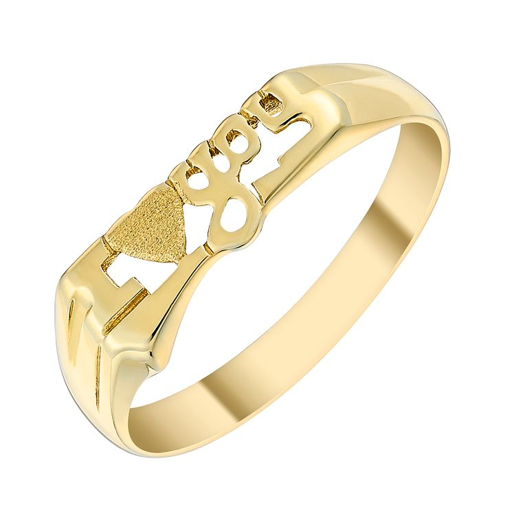 9ct Gold 'I Love You' Ring - Product number 3800628