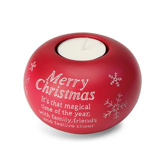 Merry Christmas Red Tealight Holder - Product number 3800970