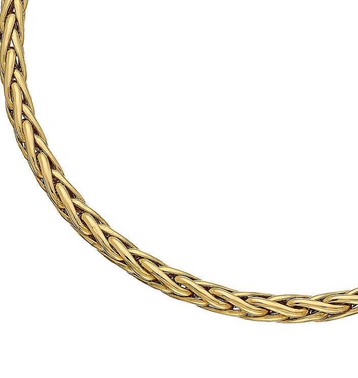 "9ct Gold 7.5"" Fancy Wheat Bracelet - Product number 3801209"