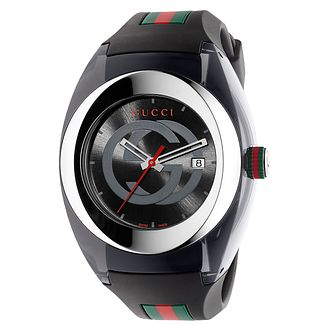 Gucci Sync men's stainless steel black rubber strap watch - Product number 3801608