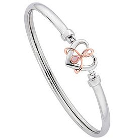Clogau Gold Silver & 9ct Rose Gold Opal Dwynwen Bangle - Product number 3805042
