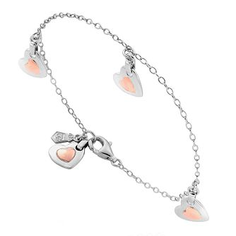 Clogau Gold Sterling Silver & 9ct Rose Gold Cariad Bracelet - Product number 3805050