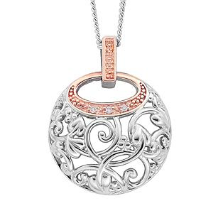 Clogau Gold Sterling Silver & 9ct Rose Gold Am Byth Pendant - Product number 3805298