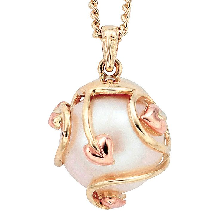 Clogau Gold 9ct Gold Caged Pearl Tree Of Life Pendant - Product number 3805301