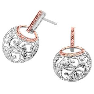 Clogau Gold Silver & 9ct Rose Gold Am Byth Stud Earrings - Product number 3805638