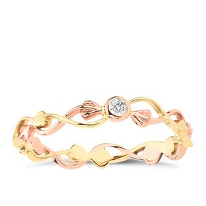 Clogau Gold 9ct Gold Tree Of Life Diamond Stacking Ring - Product number 3806146