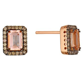 Le Vian Chocolate Diamond & Peach Morganite Earrings - Product number 3814092