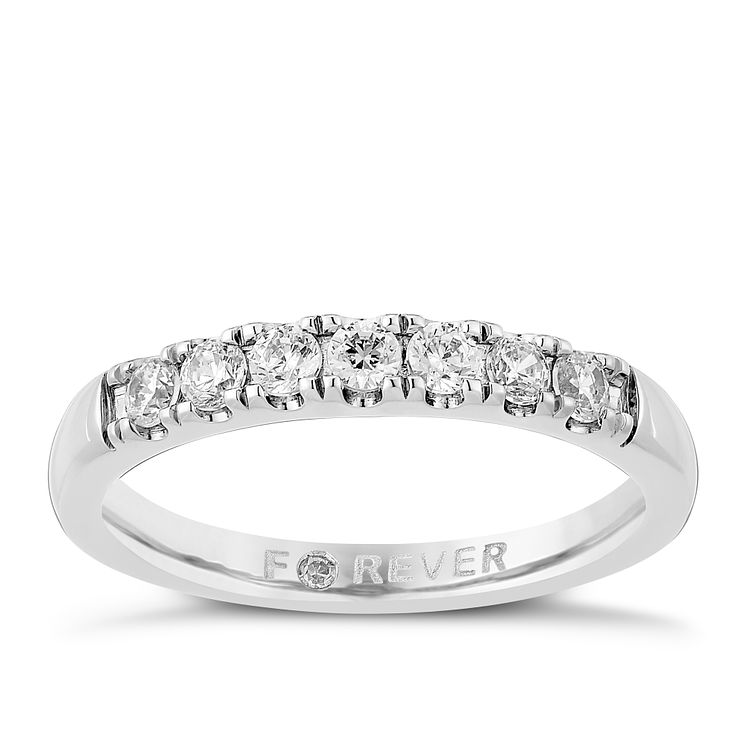 Palladium 1/3 Carat Forever Diamond Ring - Product number 3816869