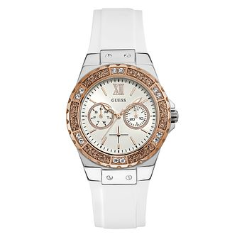Guess Ladies' White Silicone Strap Watch - Product number 3818195