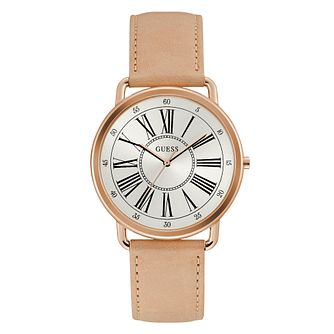 Guess Ladies' Tan Leather Strap Watch - Product number 3819817