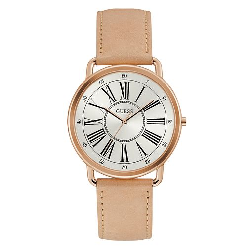 Guess Kennedy Ladies' Tan Leather Strap Watch - Product number 3819817