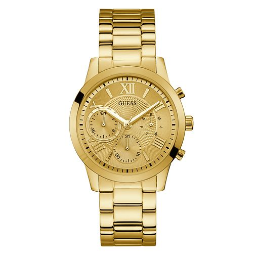Guess Solar Ladies' Gold Stainless Steel Bracelet Watch - Product number 3820084
