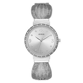Guess Chiffon Ladies' Stainless Steel Mesh Strap Watch - Product number 3821056