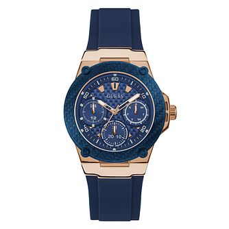 Guess Zena Ladies' Blue Silicone Strap Watch - Product number 3821064