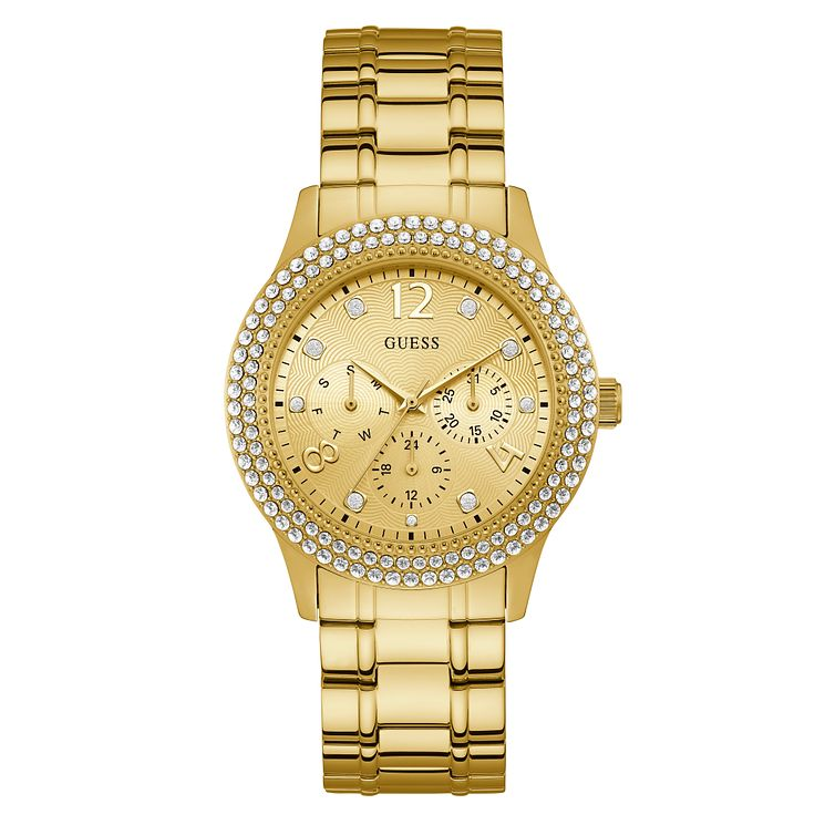 Guess Bedazzle Ladies' Gold Stainless Steel Bracelet Watch - Product number 3821072