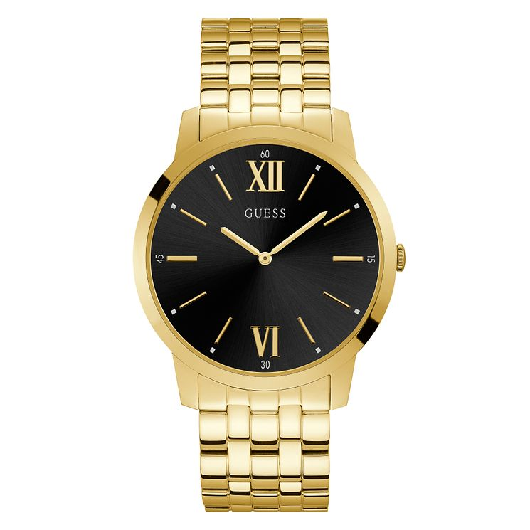 Guess Estate Men's Gold Stainless Steel Bracelet Watch - Product number 3821110