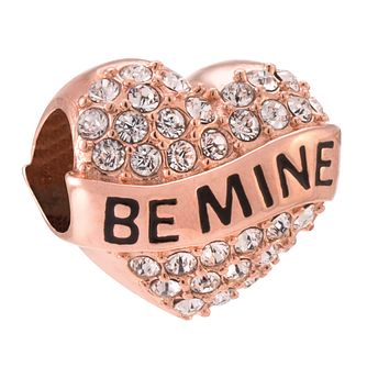 Chamilia Be Mine rose gold-plated crystal charm - Product number 3823008