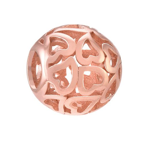 Chamilia Captured Hearts rose gold-plated charm - Product number 3823512