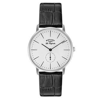 Rotary Men's Kensington Stainless Steel Black Strap Watch - Product number 3823598