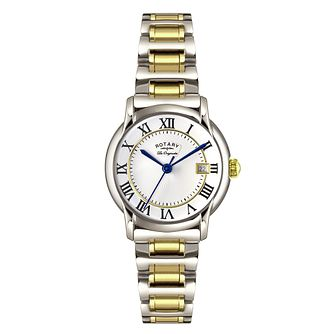 Rotary Caviano Ladies' two colour silver bracelet watch - Product number 3823792