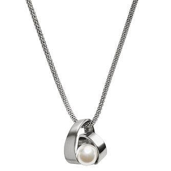 Skagen Agnethe Stainless Steel Faux Pearl Pendant - Product number 3825019