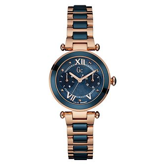 Gc Ladies' Ladychic Two Colour Blue Dial Bracelet Watch - Product number 3825035