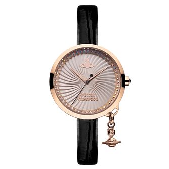 Vivienne Westwood Bow ladies' gold-plated strap watch - Product number 3825159